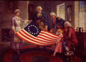 The Betty Ross painting that claimed she invented the American Flag